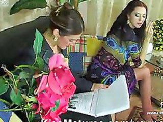 Lesbian MILF Old and Young Russian Smoking Stockings Teen