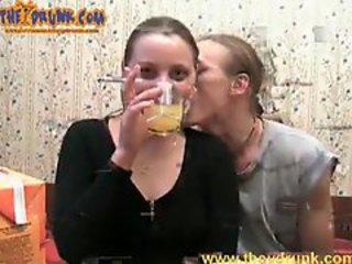 Amateur Drunk Girlfriend Smoking Teen