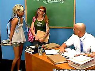 School Student Teacher Teen Threesome