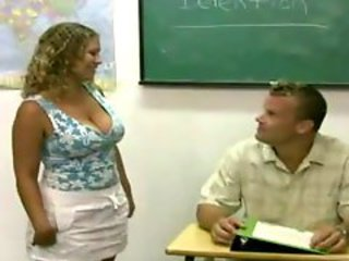 Big Tits MILF Natural School Teacher
