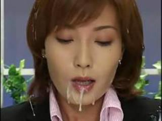 Asian Bukkake Cumshot Cute MILF Public Swallow