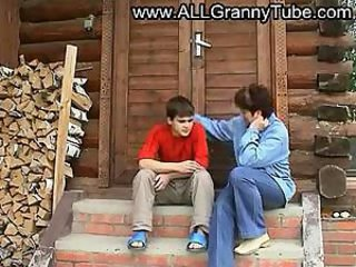 Russian Amateur Mature Mother and son