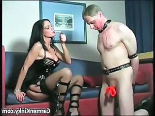 Kinky and weird dark head slut tied dude part3