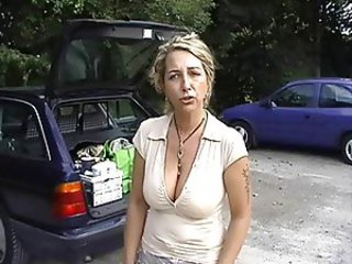 Big Tits MILF Natural Outdoor Public