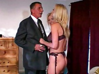 Lingerie MILF Old and Young Threesome