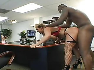 Doggystyle Fishnet Hardcore Interracial MILF Office