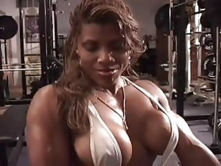 Sexy ebony workout