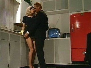 Kitchen bang for sexy housewife