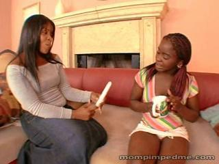 Ebony Lesbian MILF Old and Young Teen