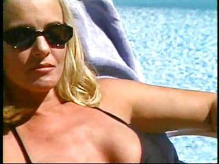 Bikini Blonde MILF Outdoor Pool