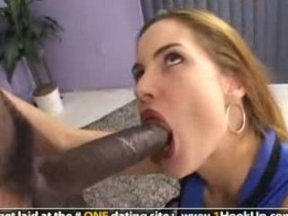 Big cock Blowjob Cute Interracial Teen