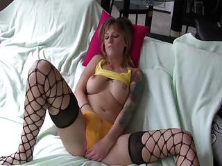 Fishnet Masturbating Panty Solo Stockings Teen