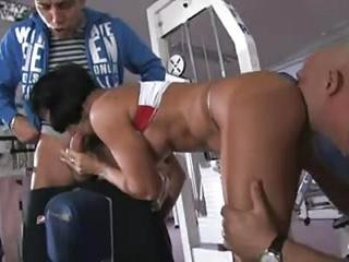 Hard Body Workout Milf Fucked In Gym