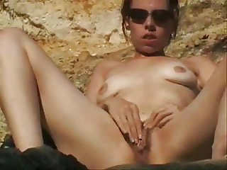 Beach Masturbating Nudist Outdoor Teen Voyeur