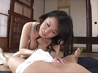 Asian Handjob Japanese MILF Mom Old and Young