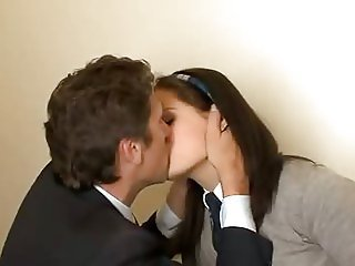 Kissing Student Teen Uniform