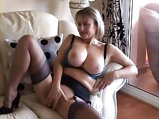 Big Tits British European Lingerie Mature Stockings