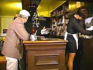 French Papy and the waitress