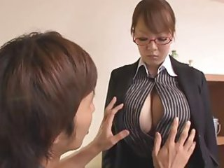 Asian Big Tits Glasses Japanese MILF Natural Pornstar Teacher
