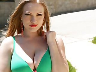 Amazing Cute Natural Outdoor Redhead Teen