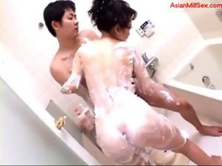 Asian Bathroom MILF Mom Old and Young