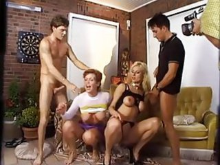 European German Groupsex MILF Orgy
