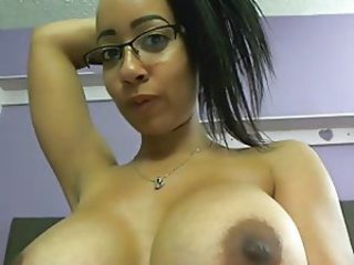 Big Tits Ebony Glasses MILF Webcam