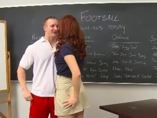 InnocentHigh red head learner Melody Jordan made love hard fucking