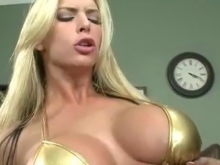 Tall Big-Titted blonde chief