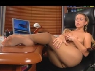 Babe Legs Office Pantyhose Secretary
