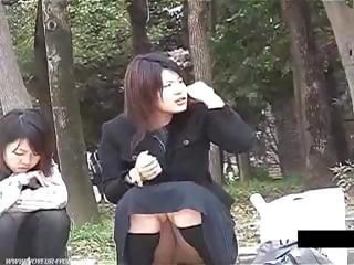 Asian Outdoor Public Teen Upskirt