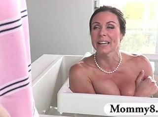 Dude spies on his MILF neighbor masturbating and gets caught