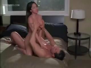 Jenaveve Jolie hops on top of a hard cock and rides it like a cowgirl