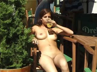 hot girl walking nude  in public part 3
