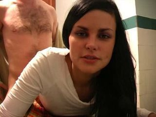 Amateur Brunette Doggystyle Teen