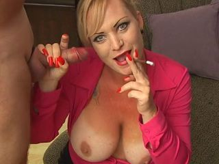 Hot Busty Cougar Smoking BJ and Swallow Sex Tubes