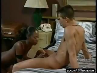 African model in a sexy interracial hardcore