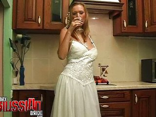 Bride Drunk Kitchen MILF