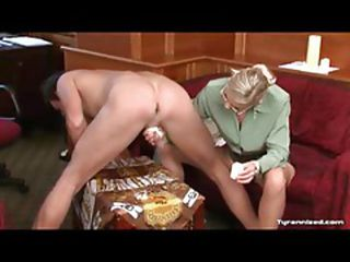 Sexy Mistress Playing With Her Slave's Ass