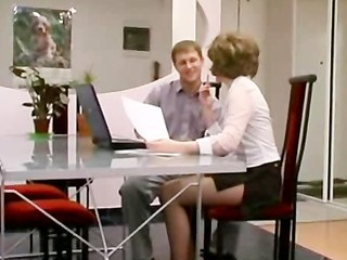 MILF Old and Young Russian Stockings Teacher