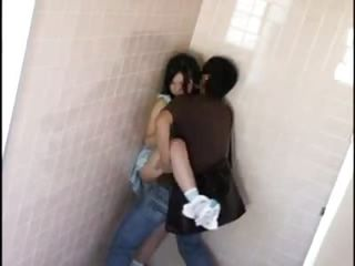 Asian Clothed Public Teen Toilet