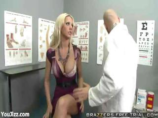 Amazing Big Tits Doctor MILF Pornstar