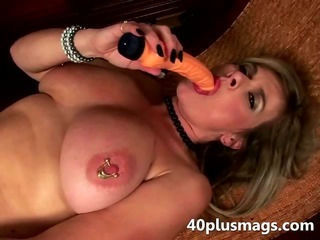 Big Tits Dildo Mature Nipples Piercing Toy