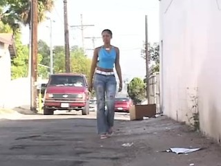 Ebony Jeans Outdoor Public Teen