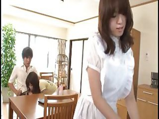 Cumshot across Japanese teen face