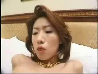 Hairy Asian Milf Sucks And Fucks