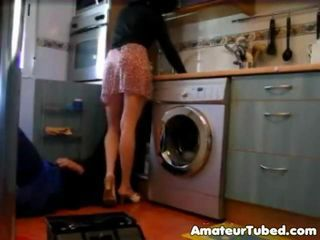 Amateur Kitchen Skirt Wife