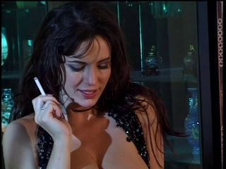 Brunette MILF Smoking