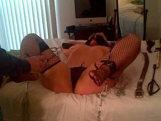 sluT milf chained whipped bea...