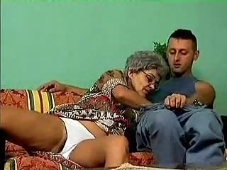 Lewd Granny Gets Her Old Slits Banged